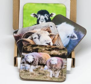 Herdwick Sheep Wooden Coaster Sets